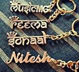 #8: Personalized Gift Necklace / Bracelet / Keychain with ur Own Name Handcarved in Pure BRASS