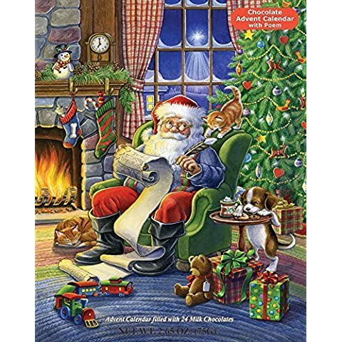 Naughty or Nice Chocolate Advent Calendar (Countdown to Christmas) by Vermont Christmas Company