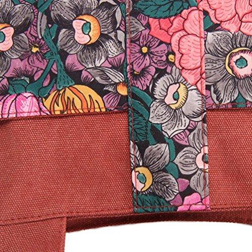 Chang Spent casuale grande borsa tracolla la borsa d'acquisto borsa di tela moda femminile , red Red