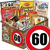 Ostalgie Set L | Zahl 60 | Geburtstags Geschenk Papa | Suessigkeiten Box