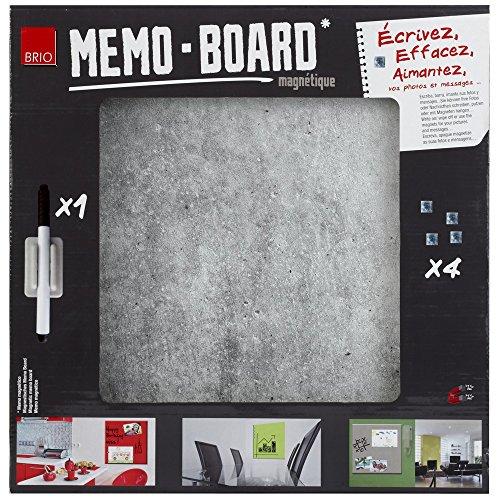brio-34558-memo-board-tableau-magnetique-beton-40x40cm-verre-gris-4x40x40-cm