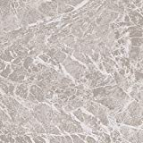 60 x Vinyl Floor Tiles - Self Adhesive - Kitchen / Bathroom Sticky - Brand New - Pale Grey Marble 195