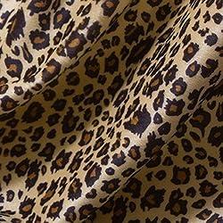 algodón de la piel animal de la impresión de la tela de leopardo tigre bty acolchado interior de la tapicería al aire libre por el patio (Las rayas leopardo A)