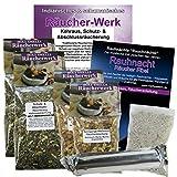 Kehraus- Schutz- & Abschluss Räucher-Sortiment 8-tlg #81185 | 20 Kräuter Räuchermischung + Reinigungs-Weihrauch für Rauhnächte, Dreikönige, energetische Hausreinigung. Mit Rauhnacht-Fibel + Zubehör.