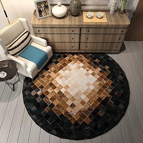 LYQZ Nordic Soft Non-Skid Runde Teppiche, einfache Moderne hängenden Körbe Computer-Stühle Soft-Touch-Teppiche Schlafzimmer Bedside Boden bedeckt Wohnzimmer Teppiche Erhältlich in 6 Stile - Non Skid Küche Teppich