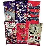 Lot de 6pochettes cartes de Noël