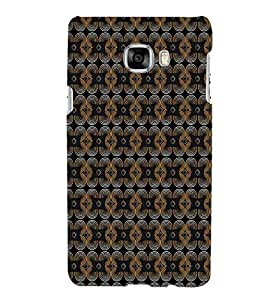 PrintVisa Designer Back Case Cover for Samsung Galaxy C5 SM-C5000 (Girly Pattern Tribal Floral Fabric Culture Rajastan Andhra)