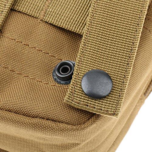 Sharplace Durevole Molle Tattico Sacchetto Militare Marsupio Porta Cellulare Penna Chiave Accesorio Sport Esterno - Nero beige