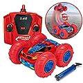 RC Ferngesteuert es Auto - VIDEN Stunt Auto mit Fernbedienung, Doppelseitig 360° Stunt Kletterwand Auto, Mini RC Ferngesteuertes Fahrzeug mit USB-Kabe Ladefunktion, Kinderspielzeug Spielzeug Geschenk von VIDEN