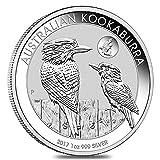 Australia Kookaburra 2017 1 OZ (31,15 gr.) Argento 999 Silver Coin Moneta Perth Mint