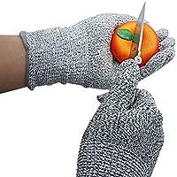 Xcellent Global Guanti resistenti ai tagli per uso in cucina protezione livello 5 per tagliare, affettare, pelare, intagliare il legno, misura M HG120(M) - Guanti In Pelle Di Cambio