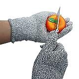Xcellent Global Guantes Resistente al Corte Uso Alimentación y Cocina Nivel de Protección 5 para Cortar, Picar, Pelar, Tallar de Madera, Tamaño Grande HG120L