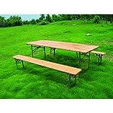 GARDEN FRIEND Set birra rettangolare 70x220cm 1 tavolo e 2 panche.