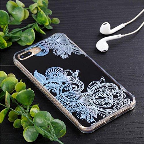 Ouneed® Für iPhone 8 plus 5.5 Zoll Hülle , Luxus Silikon TPU Soft Mandala Mehrfarbig Case Cover für iPhone 8 plus 5.5 Zoll (C) B