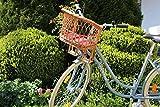 Alpenfell Kinderfahrradsitz Puppenfahrradkorb Vorne DDR Weide Fahrradsitz Kindersitz Fahrrad Vorne Lenker Ostalgie Groß - 49 x 46 x 26cm