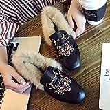 ZHAOXIANGXIANG Mode Stickerei Baotou Muller Schuhe Outdoor Komfortablen Zwanglosen Hausschuhe, Dreißig - Neun, Cat