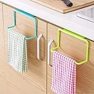 QRSLHYA 1pcs Door Tea Towel Rack Bar Hanging Holder Rail Organizer Bathroom Cabinet Cupboard Hanger Kitchen Accessories