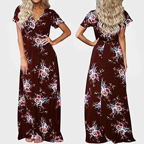 DAY8 femme vetements robe femme chic soiree cocktail ete femme vetement pas cher grande taille robe femme manche courte pour mariage robe femme élégant maxi robe fille vintage printemps Rouge