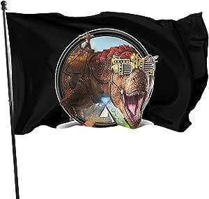 Ark Survival Evolved Fahnen Flagge Gartenfahne Dekorativer Verf Gbar In Allen Jahreszeiten 90 X 150 Cm Garten