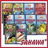 SAHAWA® Frostfutter 5 Blister, Zierfischfutter, Süßwasser, Discus, Barsche, Guppys, Rote Mückenlarven (Mysis)