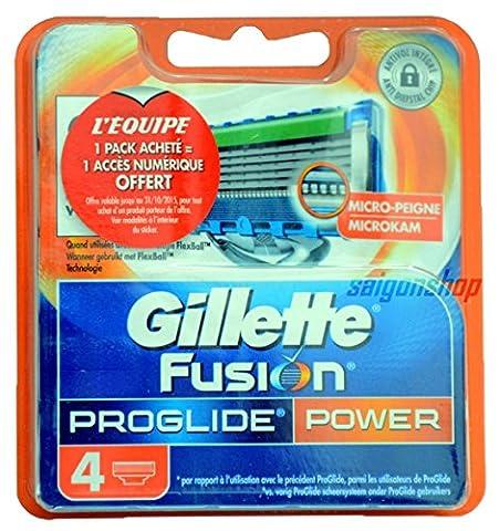 Gillette Fusion ProGlide Power Lot de 4lames de rechange