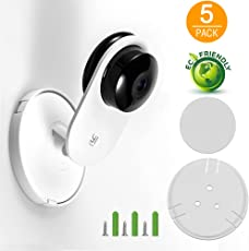 imluckies [5 Pack] Yi Home Camera Mount Accessories, Yi Security Camera Wall Mount for YI 1080p/720p Home Camera, Designed for USA (NOT Included Camera)