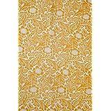 2.5 Meter Pure Cotton Fabric Indian Handmade Block Printed Garment Fabric, Cloth Material Fabric, Sanganer Hand Block Print Fabric Sunshine Yellow Sanganeri Cotton Fabric