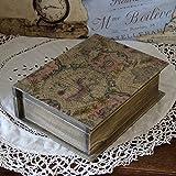 Vintage Buchsafe 24x19x8cm Landhaus Shabby Buchtresor Buch Holzkiste Handarbeit