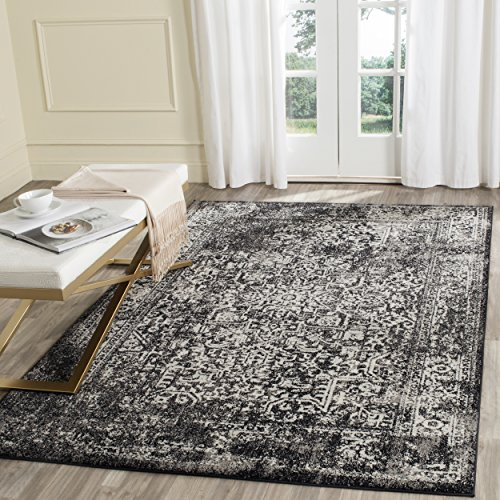 Safavieh Evoke Collection EVK256R Vintage Oriental Black and Grey Area Rug (3' x 5')