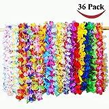 Joyin Toy 36 Counts Hawaii Blumenketten Hawaiikette Halskette Tropischen Hawaiianischen Luau Blumen Lei für Kleid, Party Favors, Strand und Themenbezogenen Geburtstage, (3 Dutzend)