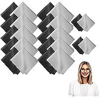 20 Pièces Tissu à Lunettes,Chiffons de Nettoyages en MicroFibre, pour Nettoyer Lunettes, Caméras,Pare Brise et Autres