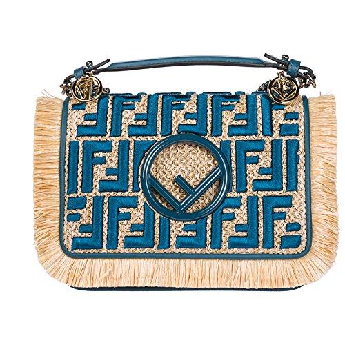 Fendi Handtasche Damen Tasche Damenhandtasche Bag kan I f blu (Fendi Canvas Handtasche)
