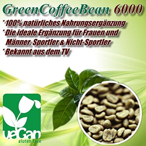 GREEN COFFEE BEAN – 6000 | 500 Tabletten (vegan) a 2000 mg | Großpackung XXL zum fairen Preis | Grüner Kaffee Bohnen Extrakt – Natural Slimming – Gesund und natürlich abnehmen | erhöht den Stoffwechsel – Premium