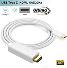 Ultima™ High Quality Type C USB Cable Support 4K*2K HDTV Long Cable USB3.1 Type C to HDMI Adapter Cable 1.8m