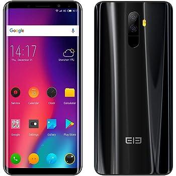 Teléfono móvil,Elephone U 4G Smartphone 5.99 Pulgadas 2160 * 1080 FHD 6GB RAM+128GB ROM,Dual Sim Dual 13MP Camaras (Negro)