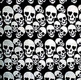 Nicki-Tuecher Herren Damen Halstuecher Nickituch Totenkopf schwarz viele Modelle Tuch Bandana paisl. Kopftuch Palesti. Scarf Halstuch Armband Zantana Nikituecher ca 56x56cm 5049: Farbe: SKULL5 5061