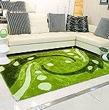 DT-ZZZ Teppich Weich und Bequem/stilvollFamilienbedarf Moderne Rural Grün Refreshing Sofa Wohnzimmer Teppich Elastic Draht Couchtisch Mat Moderner Teppich Familienbedarf (Größe : 120 cm X 170 cm)