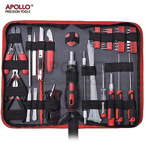 Apollo Kit de réparation professionnel 73pièces pour ordinateur, tablette et téléphone portable Étui de rangement inclus