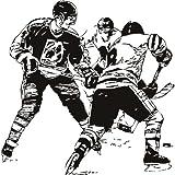 Grupo jugador de hockey sobre hielo deportes arte de pared 02 pegatinas – 50cm Altura – 50cm Ancho – Negro Vinilo
