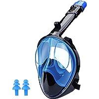 WANFEI Schnorchelmaske Vollmaske Tauchmaske,Neuestes Fortschrittliches Sicherheitsatmungssystem Vollgesichtsmaske mit…