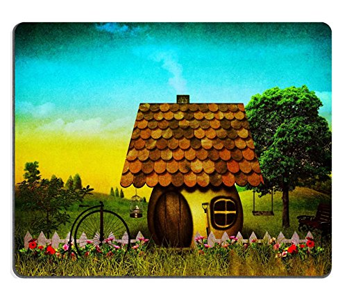 Mousepads Grungy paesaggio di fantasia con vintage Cardboard texture Added Image ID 18930690 by Liili Customized Mousepads Stain Resistance Collector kit Kitchen Table top Desk drink Customized Stain Resistance Collector kit Kitchen Table top Desk