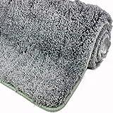 WohnDirect Badematte Rutschfester Badvorleger Waschbar Microfaser Flauschiger Duschvorleger Badteppich Badezimmer 50x80cm