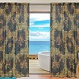 Yibaihe Mnsruu - Cortinas con Mosaico de Leopardo (213 cm, Cortinas largas, Cortinas de Gasa, Cortinas para salón, Dormitorio y 2 Paneles)