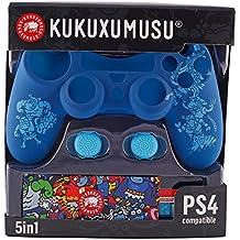 Indeca- Pack de 5 componentes para playstation 4 - PS4 (incluye Silicona para mando