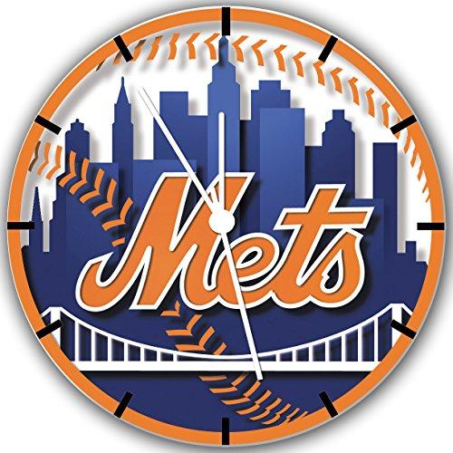 New York Mets Wanduhr 25.40 cm und wird inklusive Geschenk Wand, 137 cm (New York Mets)