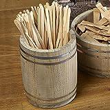 Genware Miniatur Holz Schaft 11,5x 13,5cm–Tisch Ordentlich in der Form einer Altes Holz Barrel