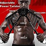 4 IN 1 Power Twister Strength Exerciser Chest Expander Hand Grip Strengthener Adjustable Strength Trainer for 30/40/50/60KGS