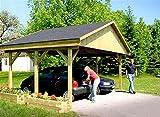 Carport Satteldach MONZA I 600cm x 500cm Bausatz Satteldachcarport