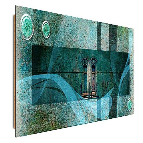 Feeby Frames, Immagine da parete, Immagine decorativa, Immagine stampata, Immagine Deco Panel, 60x80 cm, ASTRAZIONE, (3 Appartamento Porta Panel)