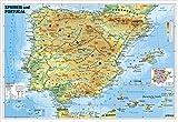 Spanien und Portugal physisch: Wandkarte/Poster - Heinrich Stiefel